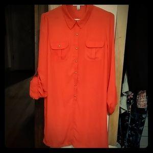 Orange dress with Cami slip